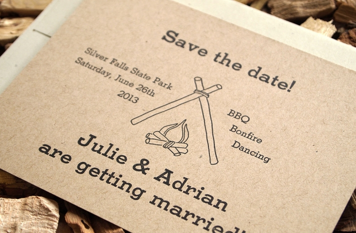 handmade wedding stationery decor using kraft paper Etsy weddings rustic letterpress