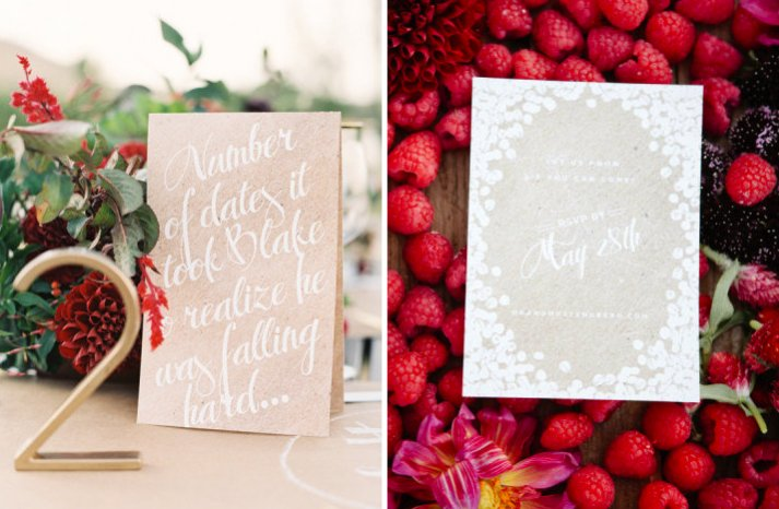 kraft paper wedding pretties for DIY brides outdoor romantic wedding