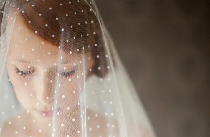 wedding inspiration from Etsy polka dots romantic veil
