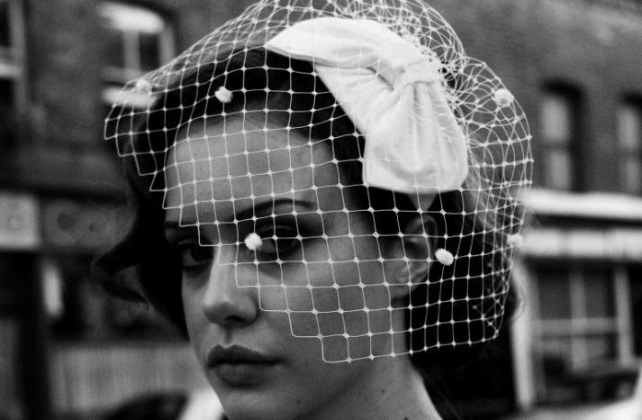 wedding inspiration from Etsy polka dots vintage veil