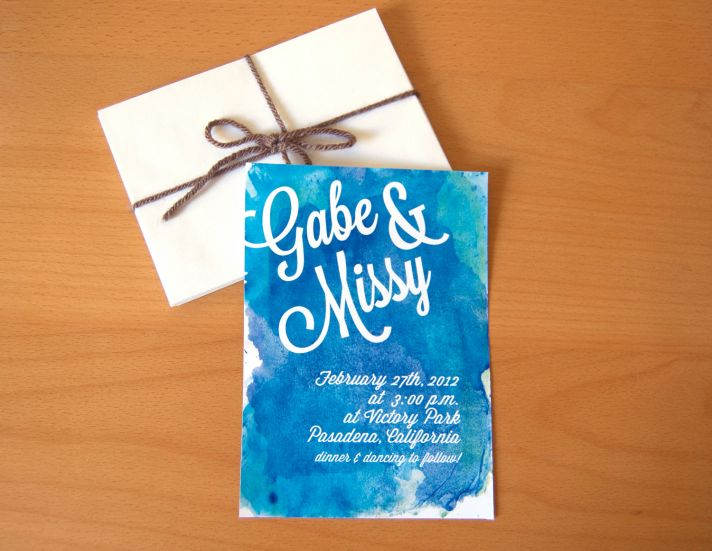15 Gorgeous Watercolor Wedding Invitations