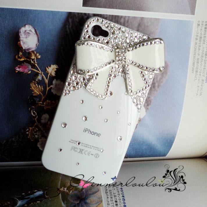 favorite iphone cases for brides modern tech weddings ivory with crystals and bows