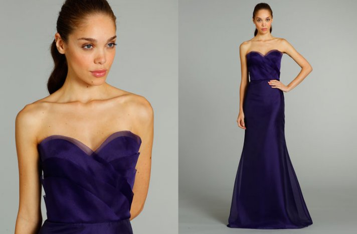 bridesmaids dresses for stylish bridal parties Jim Hjelm from JLM Couture navy sweetheart