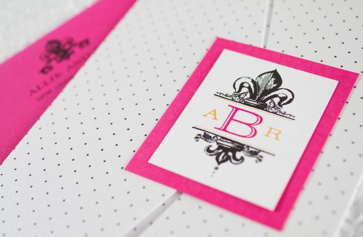 weddings by style Parisian romance wedding decor inspiration polka dot white black pink gold