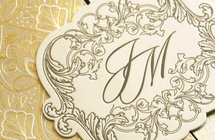 gorgeous foil stamped wedding invitations gold ivory ornate