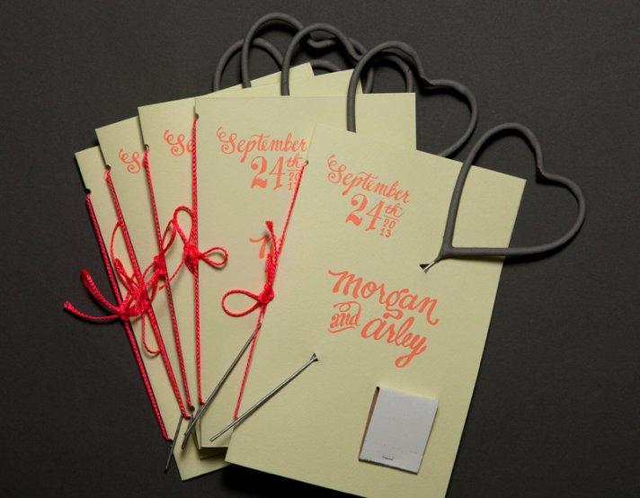 ladyfingers letterpress wedding invitations stationery rustic modern programs
