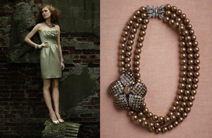 wedding jewelry for vintage brides BHLDN bridal necklace 1