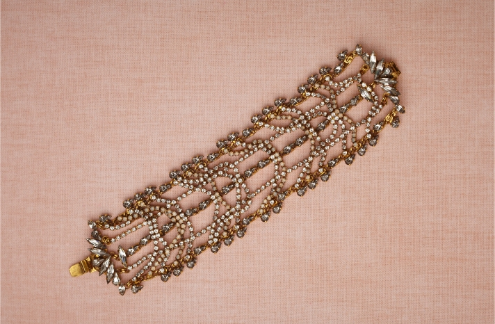 BHLDN bridal jewelry for vintage brides wedding bracelet 1