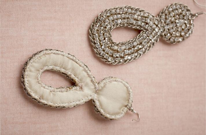 BHLDN bridal earrings for vintage glam brides