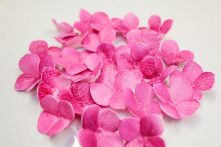 fondant wedding finds to add sweetness to handmade weddings colorful hydrangea petals