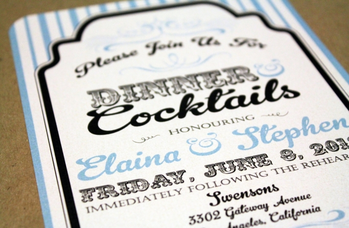 retro wedding treasures for vintage brides blue black white invitation