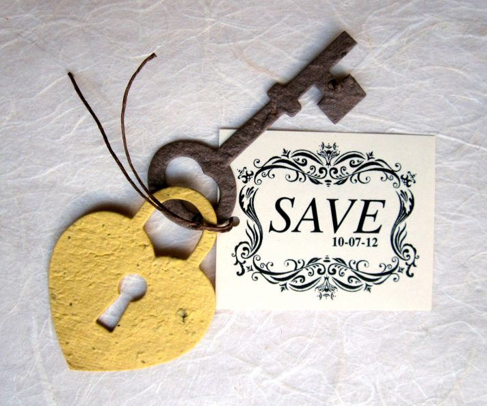 wedding save the dates 5 more brilliant ideas lock and key