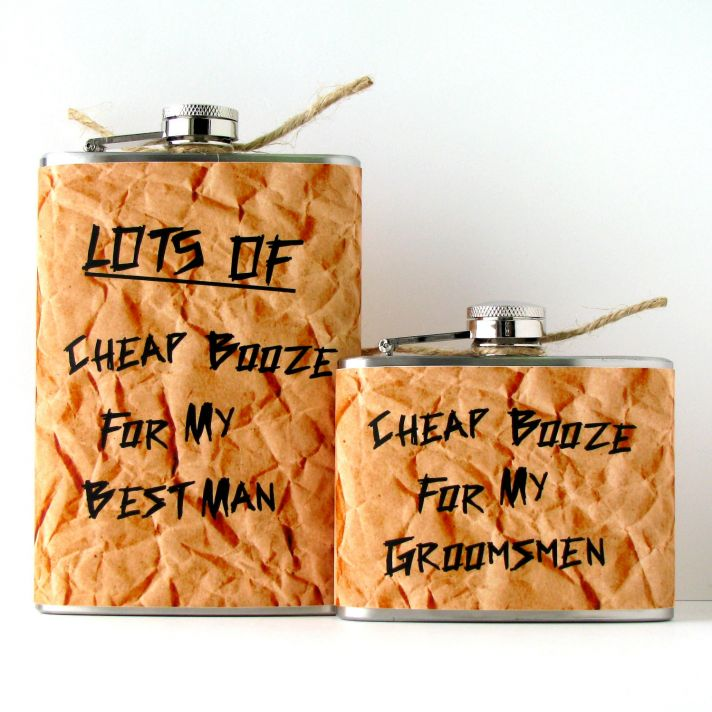 funny gifts for groomsmen cheap booze flasks