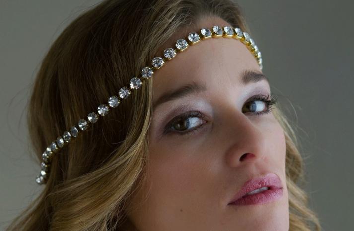 bejeweled bride wedding accessories halo