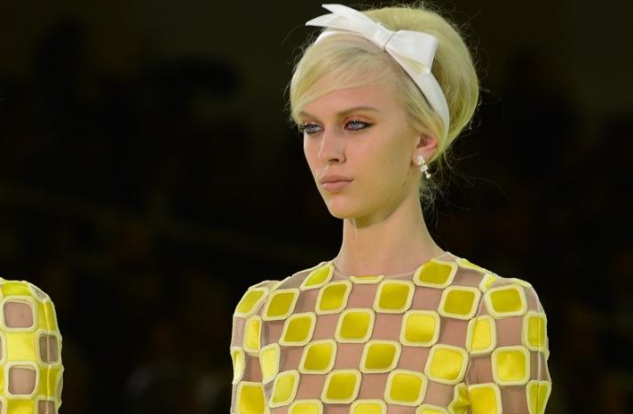bridal updo wedding hair inspiration fashion week Louis Vuitton 5