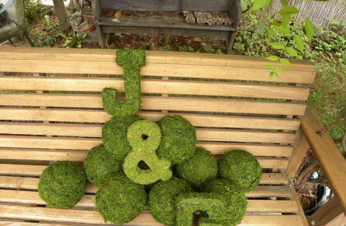 memorable moss wedding decor for ceremony reception monogram