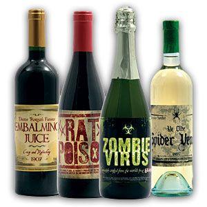 f1db evil fake wine bottle labels