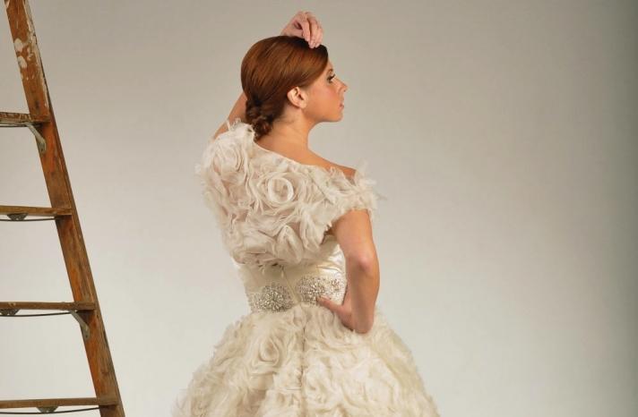 beautiful bridal boleros to top a simple wedding dress 2