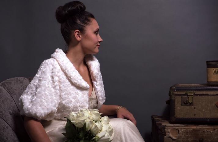 beautiful bridal boleros to top a simple wedding dress faux fur jacket