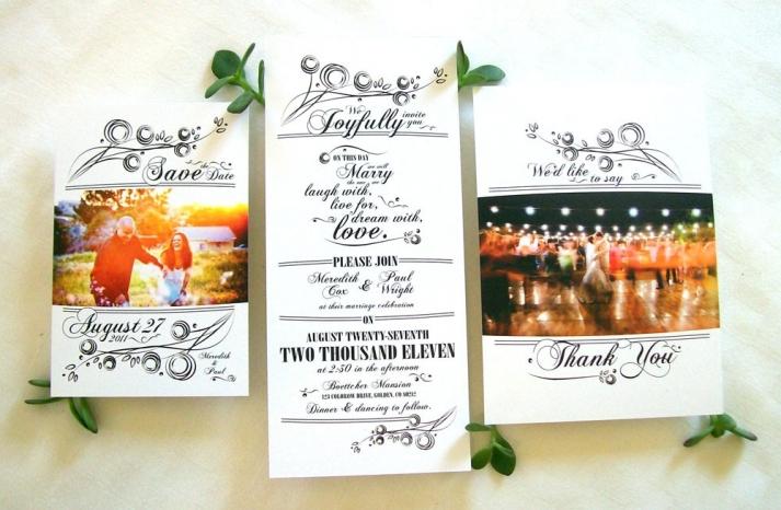 eco friendly wedding invitation suite handmade