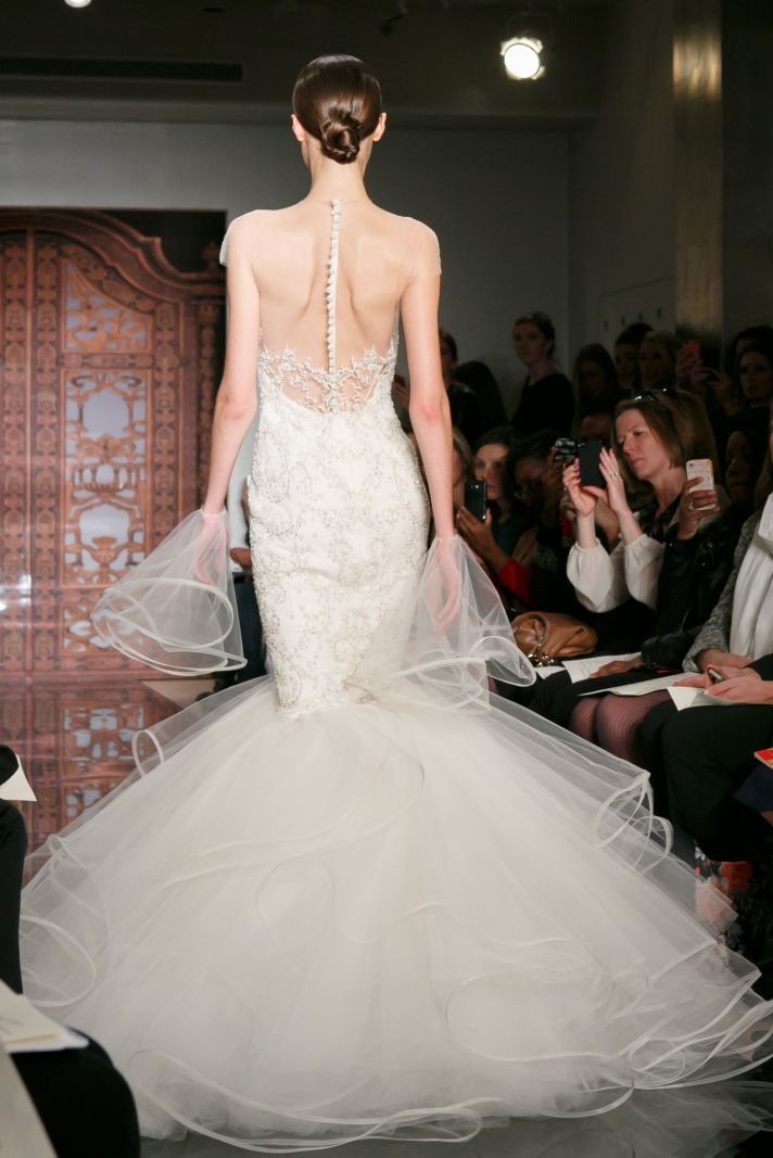 Reem Acra wedding dress Fall 2013 bridal Vik Super Rich front