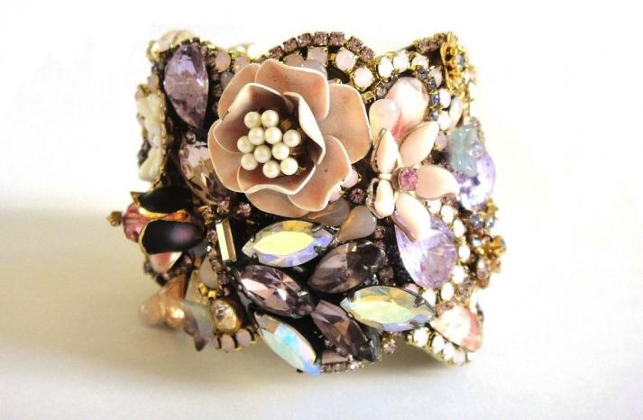 bridal cuff bracelet handmade wedding accessories 7