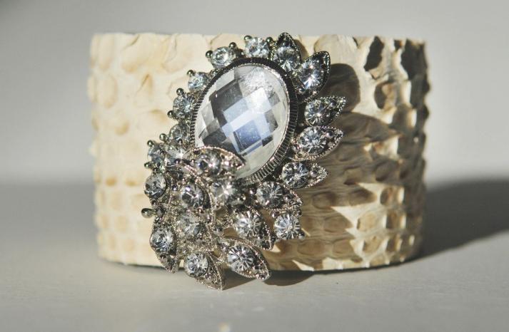 bridal cuff bracelet handmade wedding accessories 17