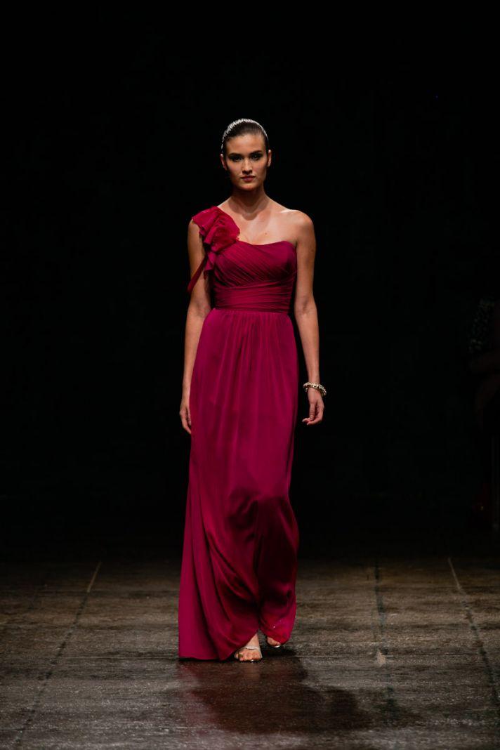 Spring 2013 bridesmaid dress Alvina Valenta bridal Deep Red