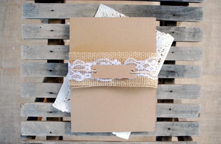 DIY wedding ideas for budget savvy brides kraft paper lace