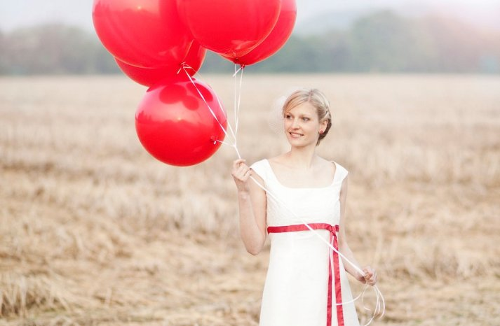 Red Wedding Accessories big balloons