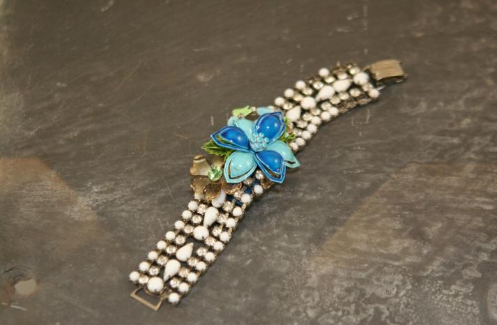Something Blue for the Bride Splurge or Save vintage bracelet
