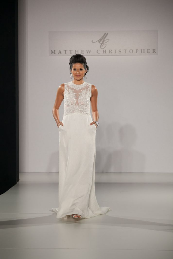 Fall 2013 wedding dress by Matthew Christopher bridal 4d