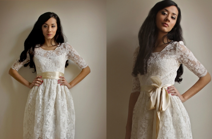 Sleeved Wedding Dresses on Etsy bridal trends 2012 14