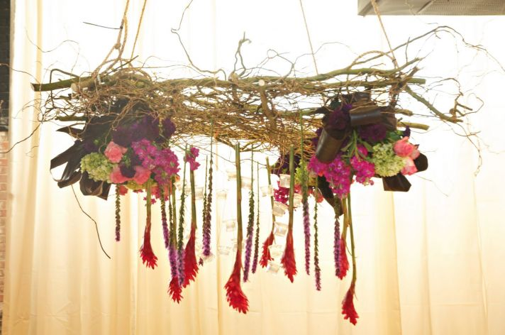 Wedding Ideas We Love Floral Adorned Chandeliers 8
