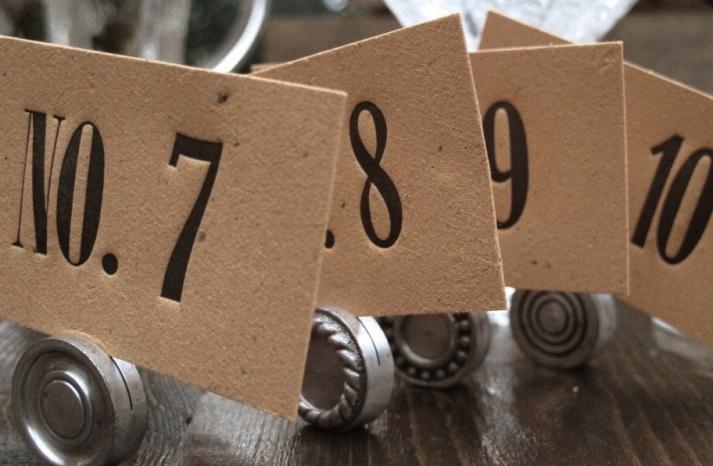 Unique Wedding Reception Table Numbers Handmade Weddings 17