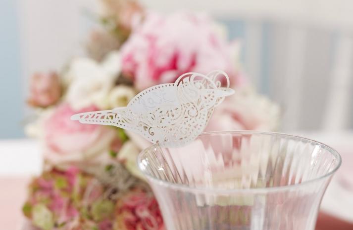Handmade Wedding Finds Laser Cut escort cards