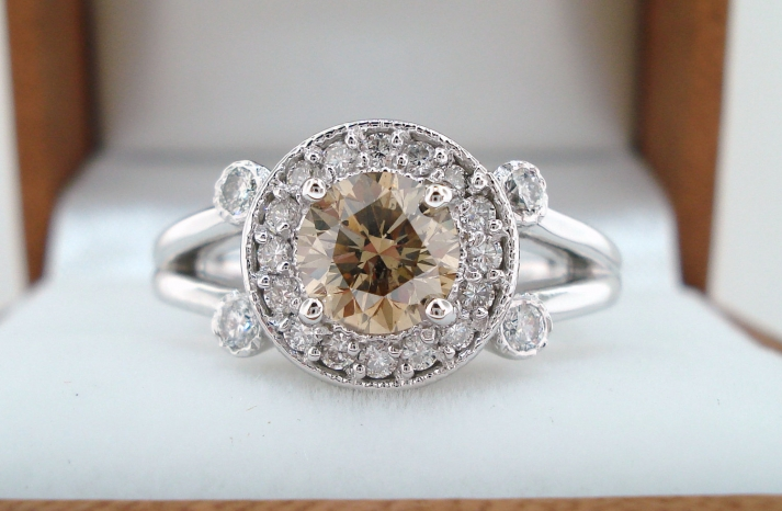 Unique Engagement Rings Halo Setting Handmade Weddings on Etsy 13