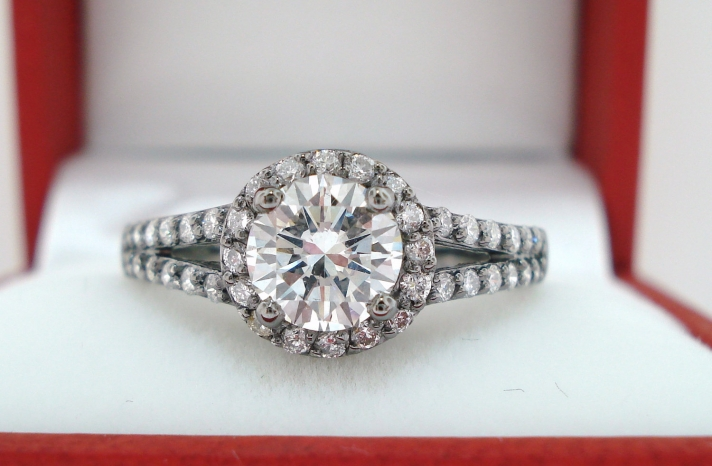 Unique Engagement Rings Halo Setting Handmade Weddings on Etsy 16