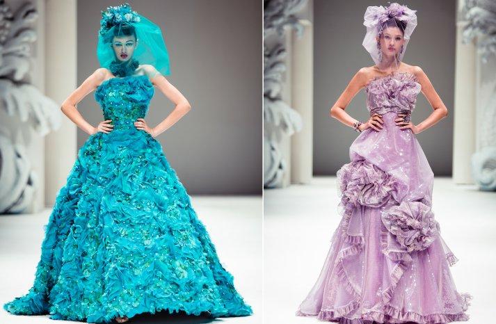 Couture Bridesmaid Dress Inspiration Lilac Deep Teal