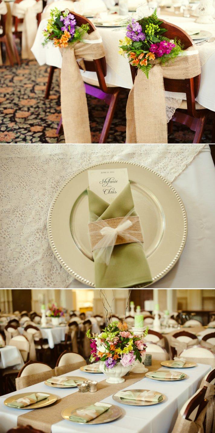 Classsic Spring Wedding Colorful Flowers Elegant Venue