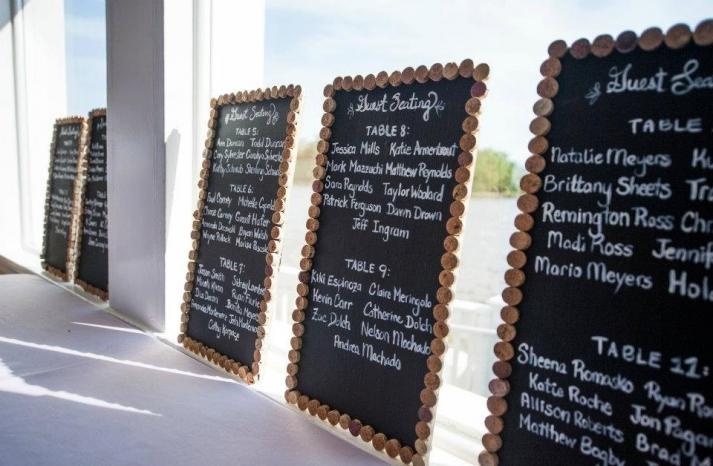 Handmade Wedding Finds for Unique Weddings Cork Rimmed Menus