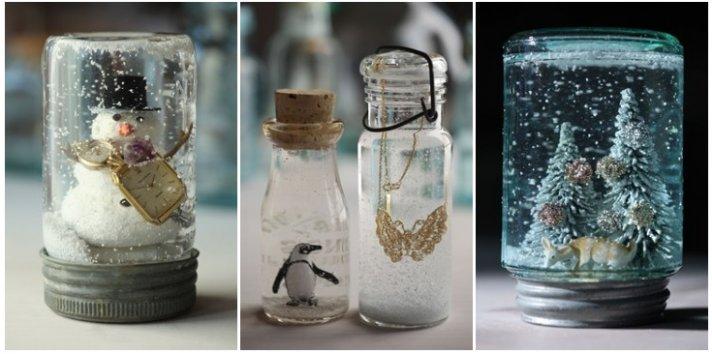 Winter Wedding Ideas DIY Snow Globe Decor 1