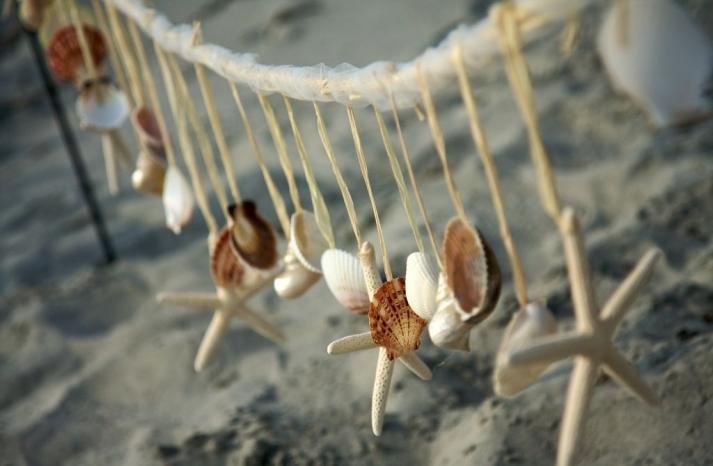 Beach Wedding Decor Sea Shell Garland