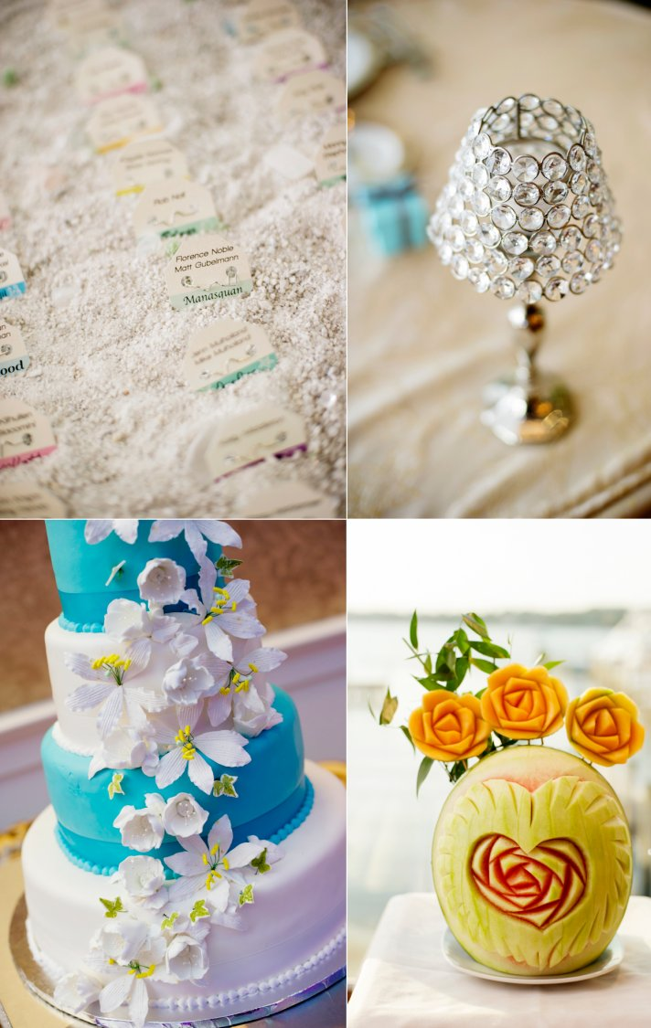 Classic New Jersey Wedding Cake and Decor Details