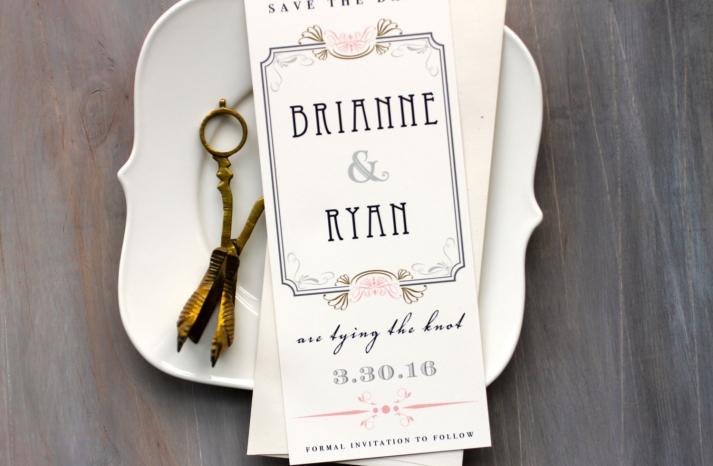 Art Deco Wedding Save the Date