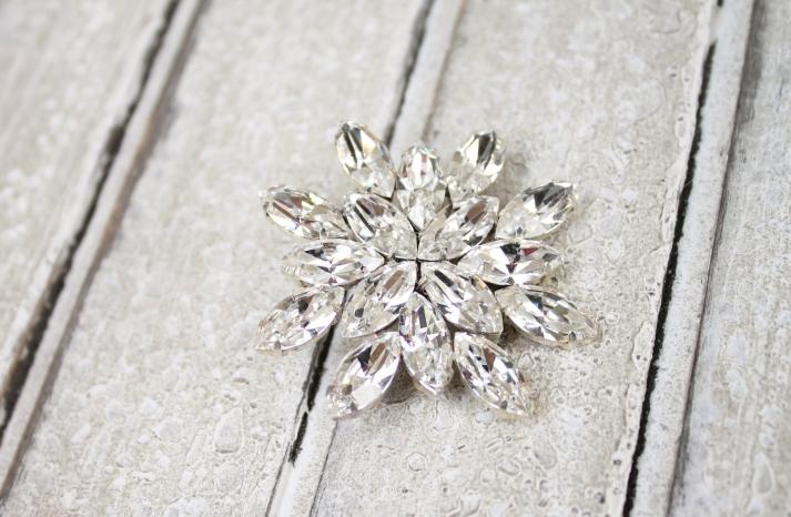 Wedding Bouquet Crystal Brooch