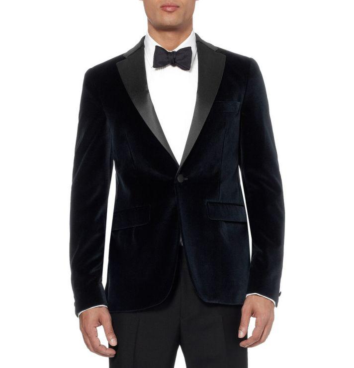 Black Velvet Tuxedo Jacket