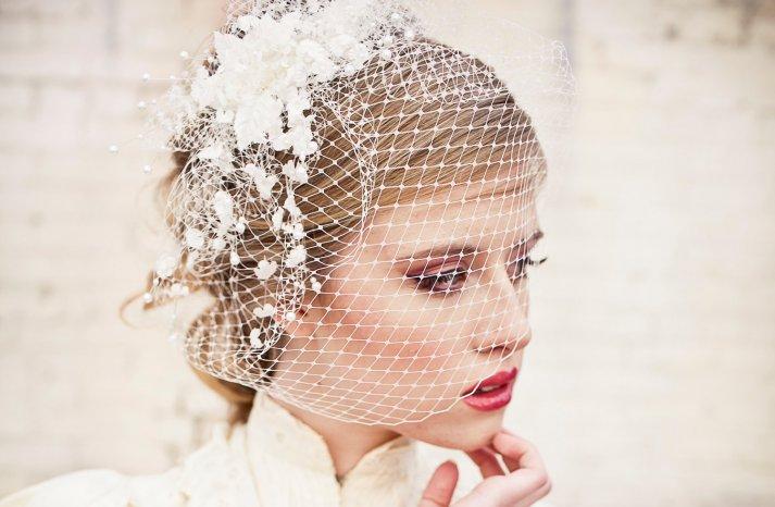 Bridal Blusher Vintage Modern