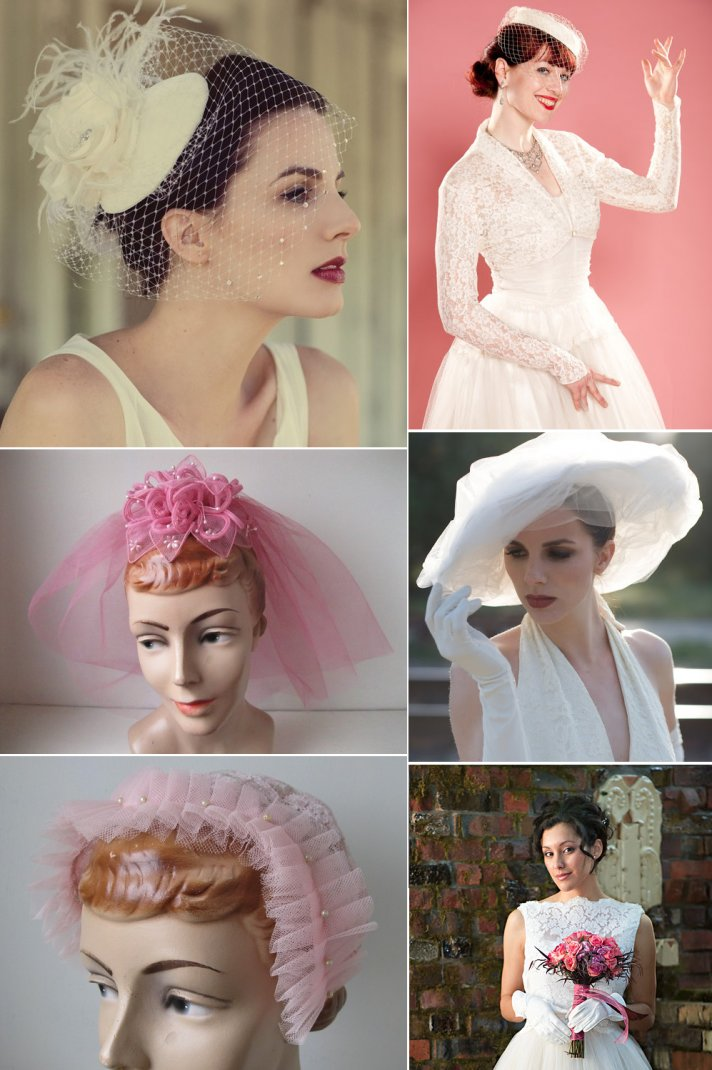 Wedding Head Chic for Vintage Brides
