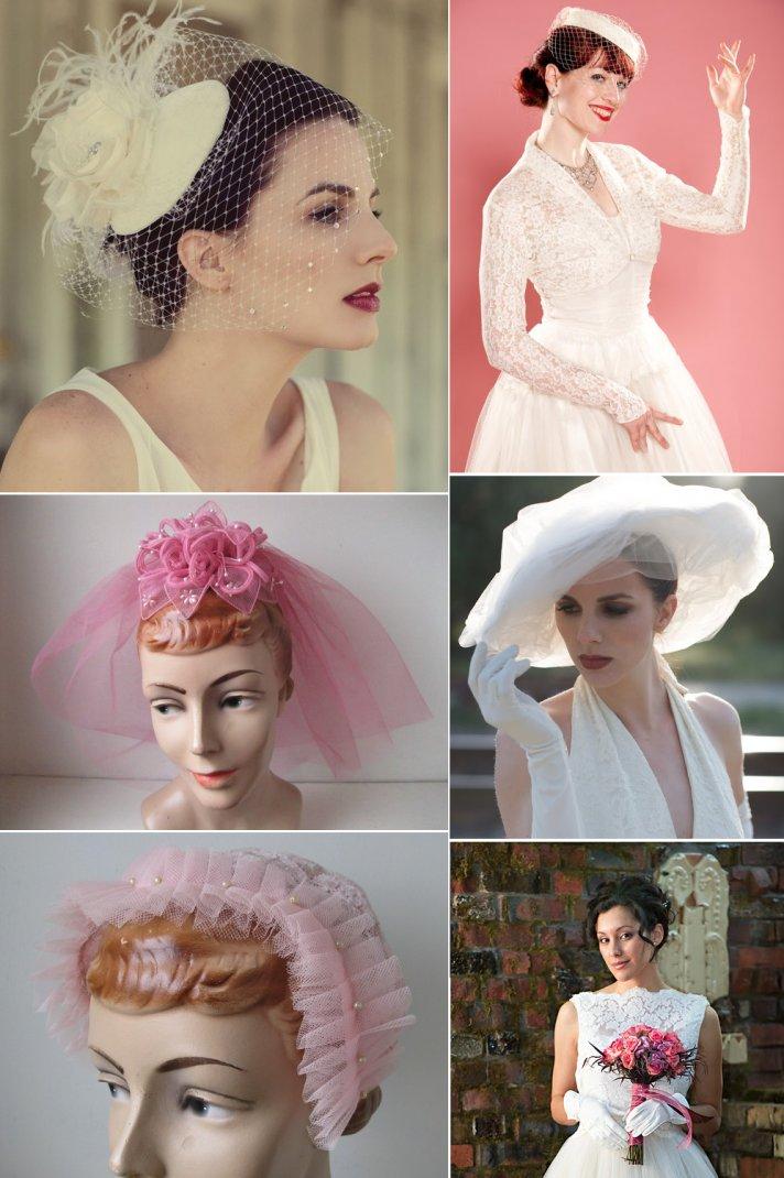 Wedding Head Chic for Vintage Brides
